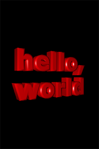 Screenshot from cocos3d Hello World Application